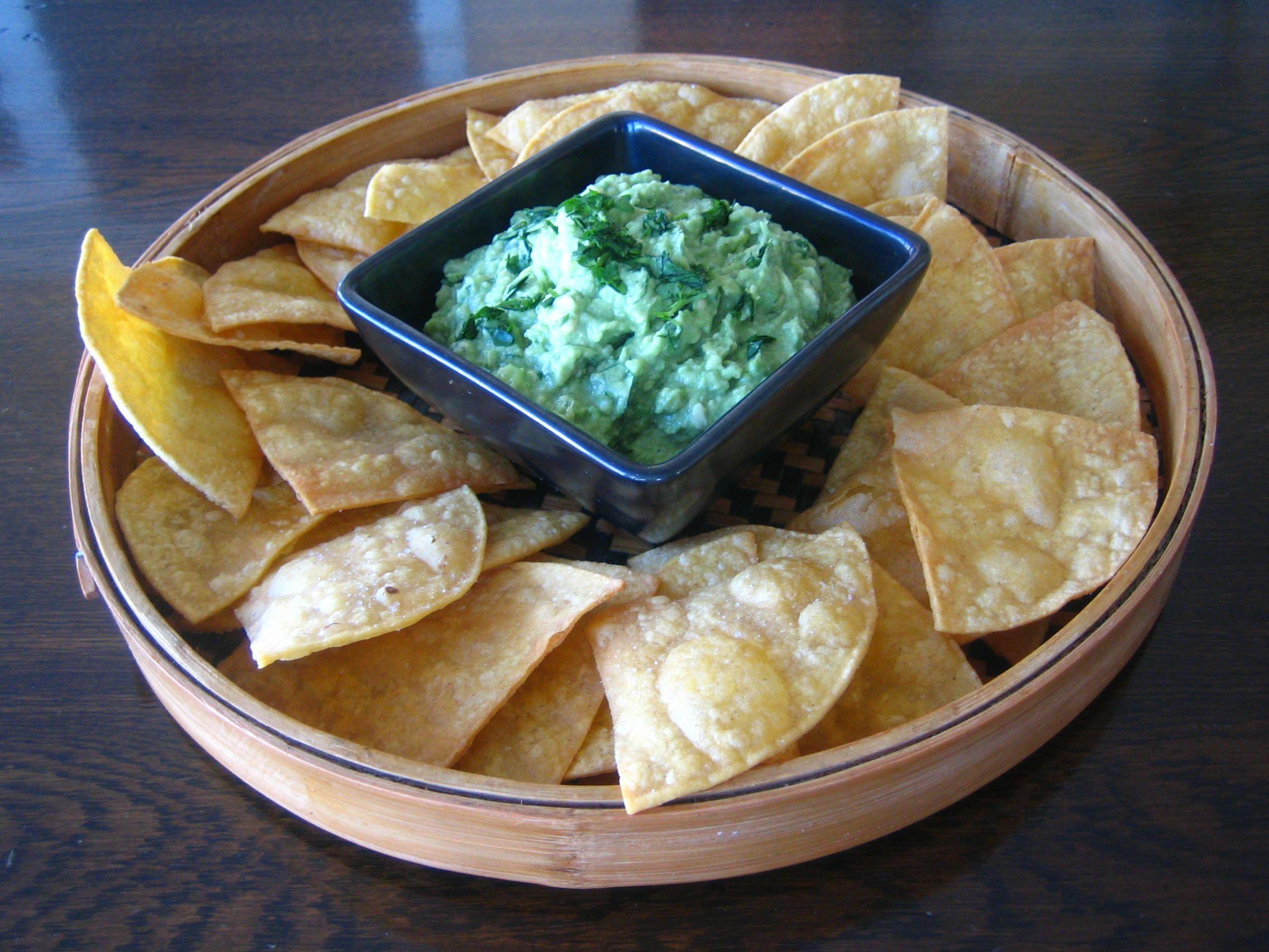 Guacamole with Crunchier Tortilla Chips | Nourishing Vancouver