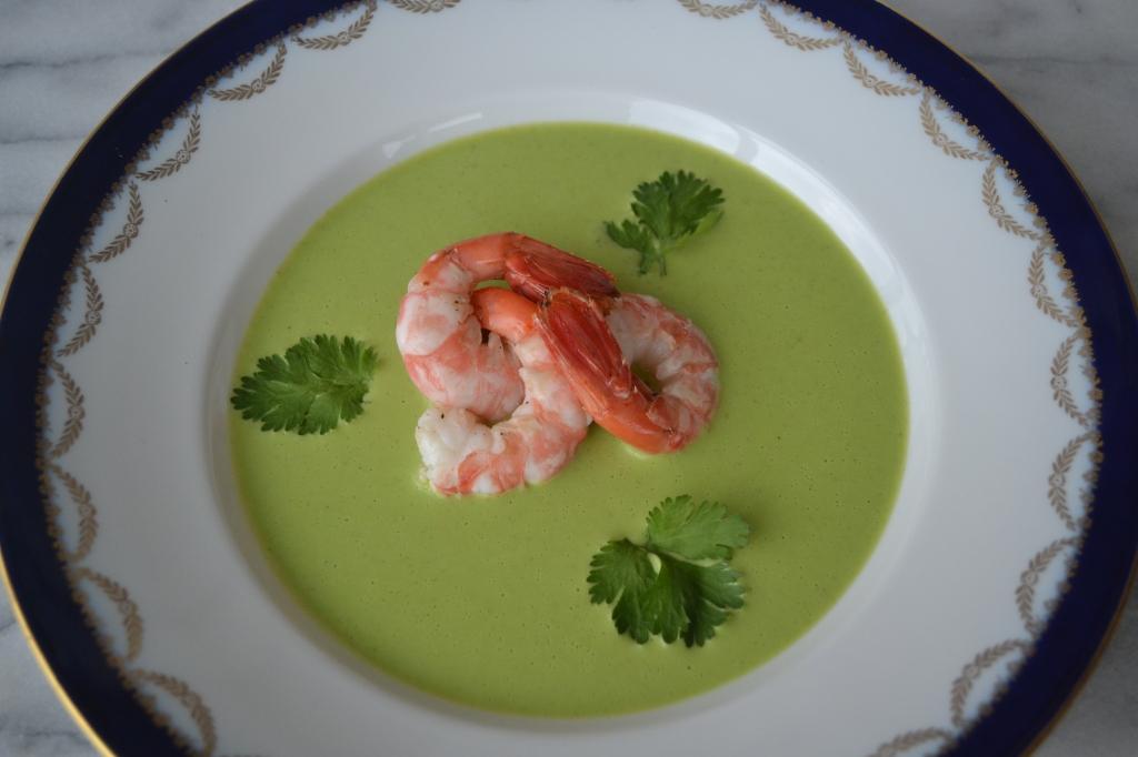 Green Gazpacho w Prawns